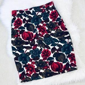 Boden Bold Floral Pencil Skirt Sz 6R